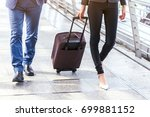 business people walking with... | Shutterstock . vector #699881152