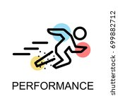 running man icon for...   Shutterstock .eps vector #699882712