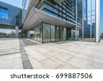 empty pavement and modern... | Shutterstock . vector #699887506