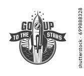 rocket flying to the stars   ... | Shutterstock .eps vector #699888328