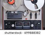 retro reel to reel tape player... | Shutterstock . vector #699888382