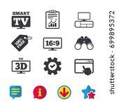 smart tv mode icon. aspect...