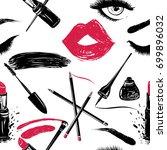 professional makeup artist... | Shutterstock .eps vector #699896032