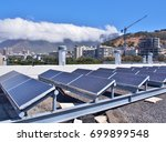 solar panels or solar cells on... | Shutterstock . vector #699899548
