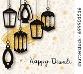 happy diwali festive background ... | Shutterstock .eps vector #699901516