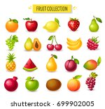 set of fruits and berries ... | Shutterstock .eps vector #699902005