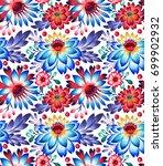 seamless folk pattern.... | Shutterstock . vector #699902932