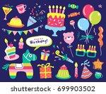 set of birthday party design... | Shutterstock .eps vector #699903502