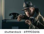 vintage undercover criminal spy ... | Shutterstock . vector #699903646