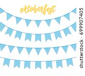 oktoberfest decorations.... | Shutterstock .eps vector #699907405