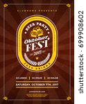 oktoberfest beer festival... | Shutterstock .eps vector #699908602