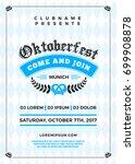 oktoberfest beer festival... | Shutterstock .eps vector #699908878