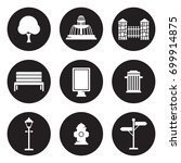 outdoor  park elements icons set   Shutterstock .eps vector #699914875