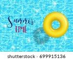 vector swim ring on swimming... | Shutterstock .eps vector #699915136