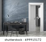 classic style work place... | Shutterstock . vector #699915172