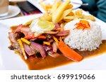 Peru, South America - Lomo Saltado, popular  stir fry peruvian food.