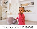 portrait of mixed race kid at... | Shutterstock . vector #699926002
