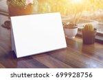 mock up label the blank menu... | Shutterstock . vector #699928756
