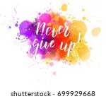 multicolored splash watercolor... | Shutterstock .eps vector #699929668