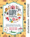 happy birthday invitation for... | Shutterstock .eps vector #699931582