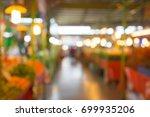 abstract blurred bokeh... | Shutterstock . vector #699935206