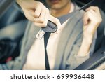 seatbelt in the car | Shutterstock . vector #699936448