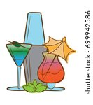 cocktails vector illustration  | Shutterstock .eps vector #699942586