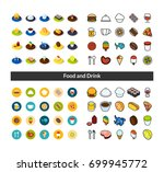 set of icons in different style ... | Shutterstock .eps vector #699945772