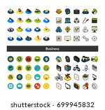 set of icons in different style ... | Shutterstock .eps vector #699945832