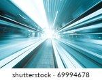 high speed moving escalator | Shutterstock . vector #69994678