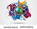2018 happy new year background... | Shutterstock .eps vector #699949096