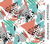 vector seamless pattern with... | Shutterstock .eps vector #699950386