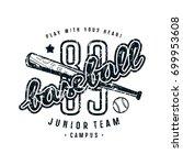 emblem of baseball junior team. ... | Shutterstock .eps vector #699953608
