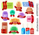 sale and discount price tags ... | Shutterstock .eps vector #699953992