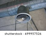 Small photo of Building interior Air Duct, Air Condition pipe line system Air flow industrial design