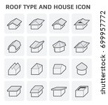roof type and house vector icon ... | Shutterstock .eps vector #699957772