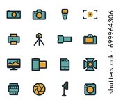 vector flat camera icons set on ... | Shutterstock .eps vector #699964306