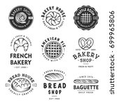 set of vintage style bakery... | Shutterstock .eps vector #699965806