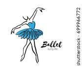Blue Ballerina Dancer. Ballet...