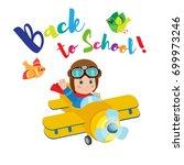 flight of imagination. welcome... | Shutterstock .eps vector #699973246