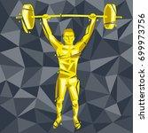 geometric crossfit concept.... | Shutterstock .eps vector #699973756