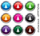 christmas tree set icon... | Shutterstock .eps vector #699976546
