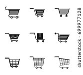 shopping cart icon set. simple... | Shutterstock .eps vector #699977128