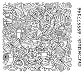 cartoon cute doodles hand drawn ... | Shutterstock .eps vector #699977146