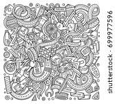 cartoon cute doodles hand drawn ... | Shutterstock .eps vector #699977596