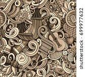 cartoon cute doodles hand drawn ... | Shutterstock .eps vector #699977632