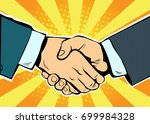 handshake business deal...   Shutterstock .eps vector #699984328