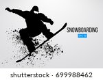 silhouette of a snowboarder...