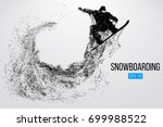 silhouette of a snowboarder... | Shutterstock .eps vector #699988522