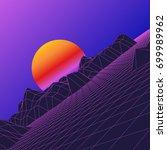 retro background. 1980 s style... | Shutterstock .eps vector #699989962